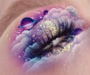 art, creative, and eyelashes image