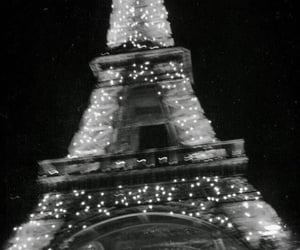 paris, light, and black and white image