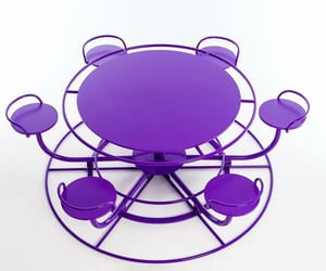 furniture, purple, and seating image