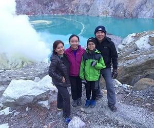 travel, trekking, and volcano image