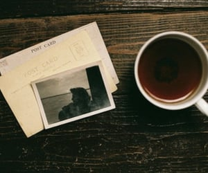 coffee, photo, and postcards image