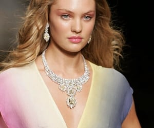 candice swanepoel, young, and yellow jewelry image