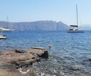 beach, boats, and Greece image