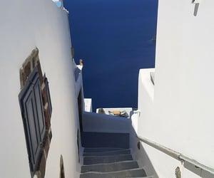 beach, Greece, and ocean image