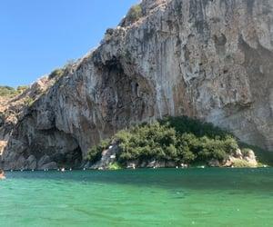 blue, lake, and rock image