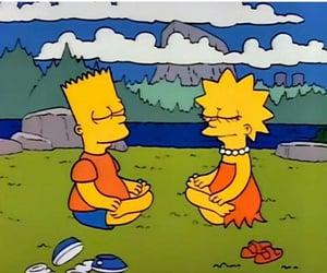 bart simpson, lisa, and nature image