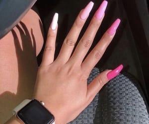 Romantic Pink Acrylic Nail Design