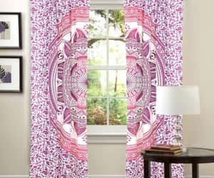 etsy, living room curtain, and window curtain panel image
