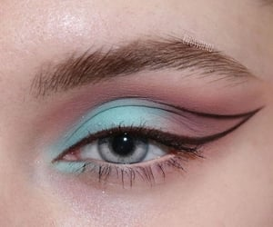 makeup, eyeliner, and eyeshadow image