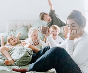 family, happiness, and home image