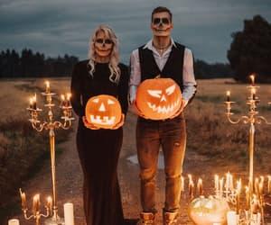 Halloween, autumn, and couple image