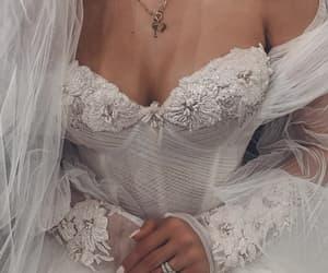 wedding, dress, and glamour image