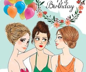 birthday, girls, and woman image