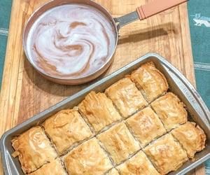 baklava, dessert, and fall image