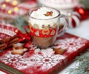 christmas, chocolate, and drink image
