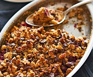 raspberry, cooking, and dessert image