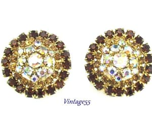 aurora borealis, fall wedding, and rhinestone earrings image