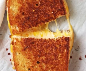 cheese, grilled cheese, and food image