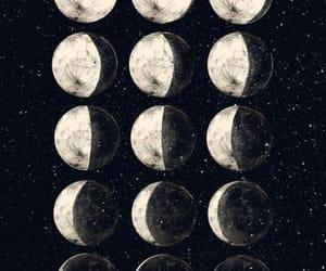moon, art, and night image