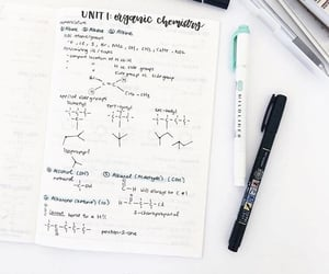 chemistry, lesson, and pen image