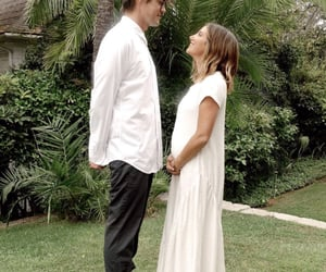 ashley tisdale, couple, and pregnancy image