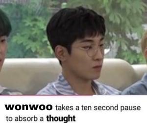 kpop, reactions, and wonwoo image