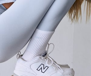 gym, light blue, and sneakers image