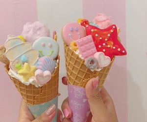 candy, marshmallow, and cone image