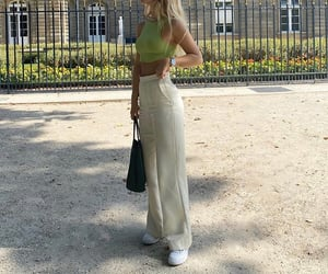 everyday look, ig inspo, and wide leg pants image