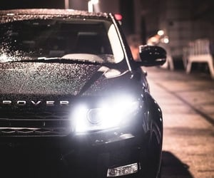 SUV, black, and dark image