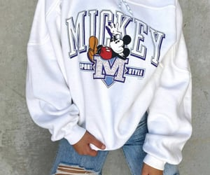 blue, disney, and mickey mouse image
