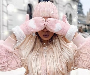 fashion, hair, and snow image