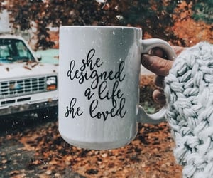 autumn, cup, and quotes image