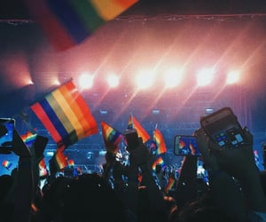 concert, queer, and rainbow image