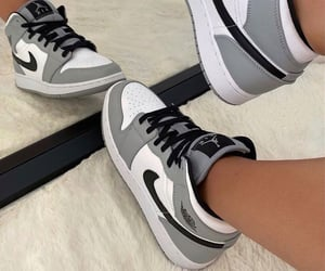 shoes, grey, and nike image