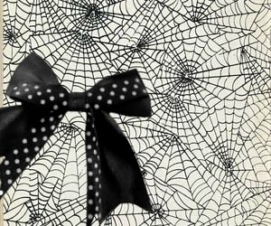 black and white, spider web, and gothic image