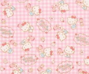 hello kitty, pattern, and backgrounds image