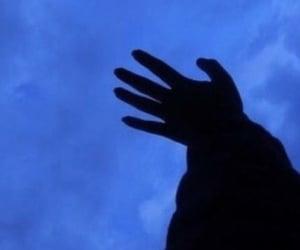 blue, hands, and sad image