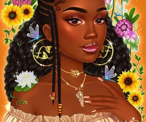 artwork, braids, and illustration image
