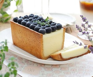 blueberry, cake, and breakfast image