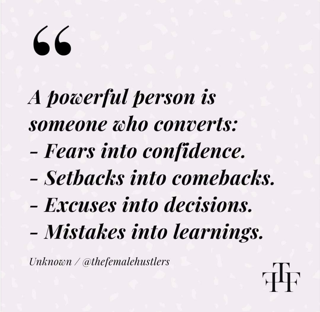 confidence, empowerment, and excuses image