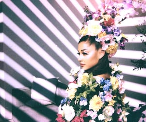 flowers and ariana grande image