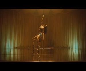 cellophane, pole dancing, and video image