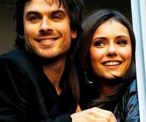 couple, damon, and elena image