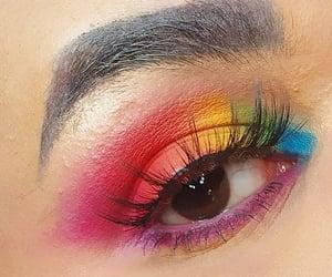 colorful makeup, maquiagem, and colorida image
