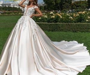 wedding gown, cheap wedding dress, and satin wedding dresses image