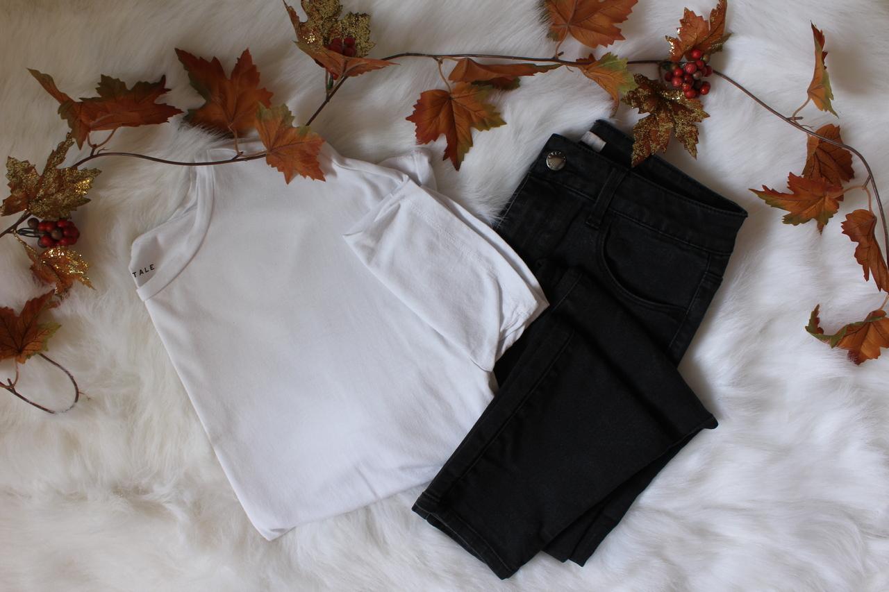 autumn, fall, and white tee image