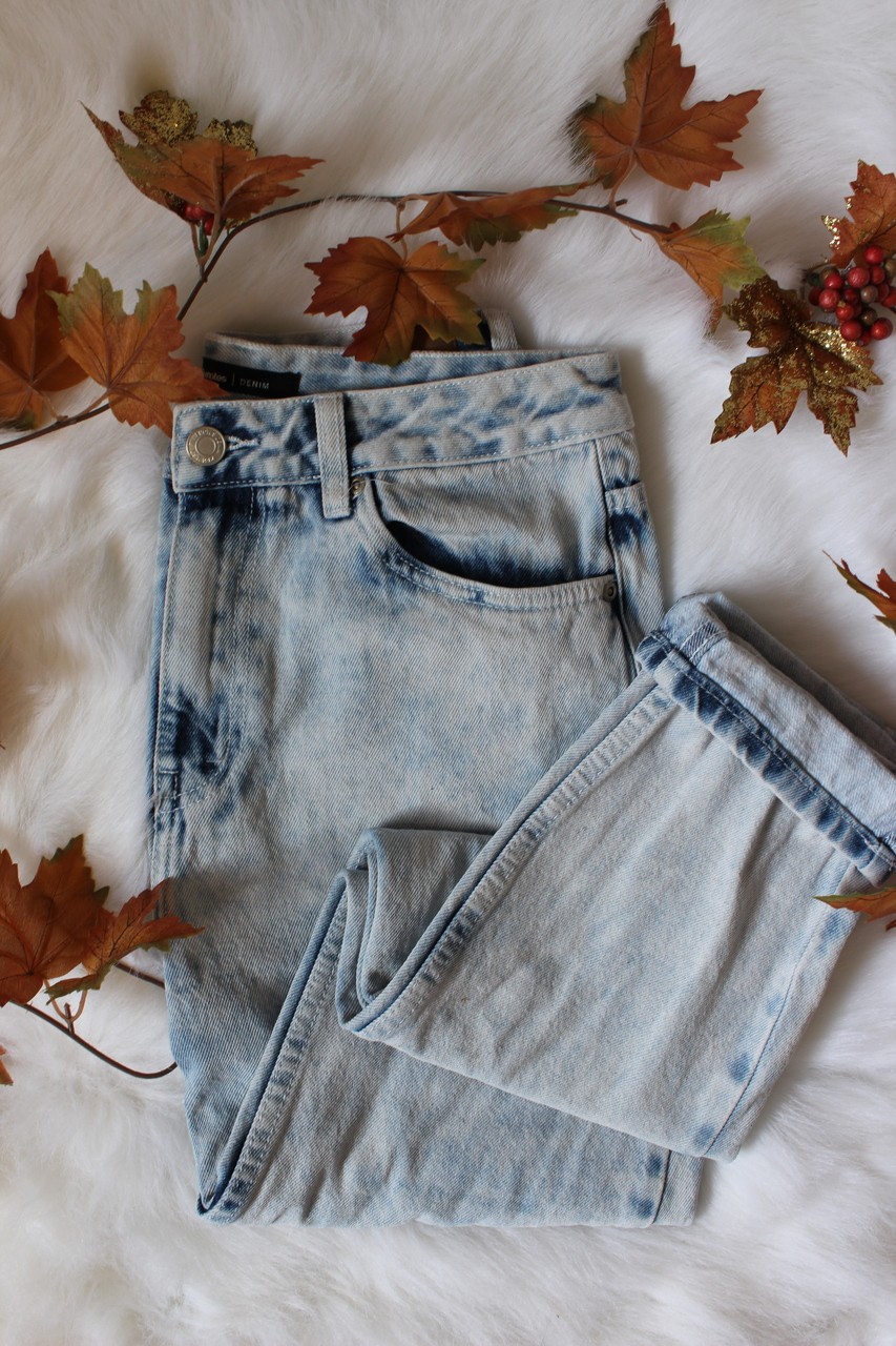 acid wash jeans, autumn, and fall image