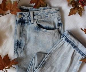 acid wash jeans, fashion, and autumn image