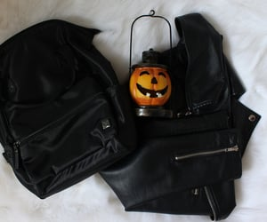autumn, fall, and leather jacket image